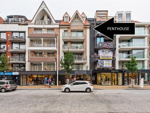 Luxueuze penthouse in de winkelstraat van Nieuwpoort-bad