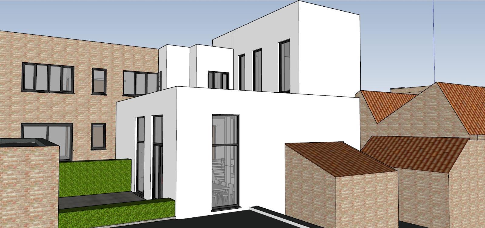 Verder af te werken penthouse (112m²) in centrum Diksmuide