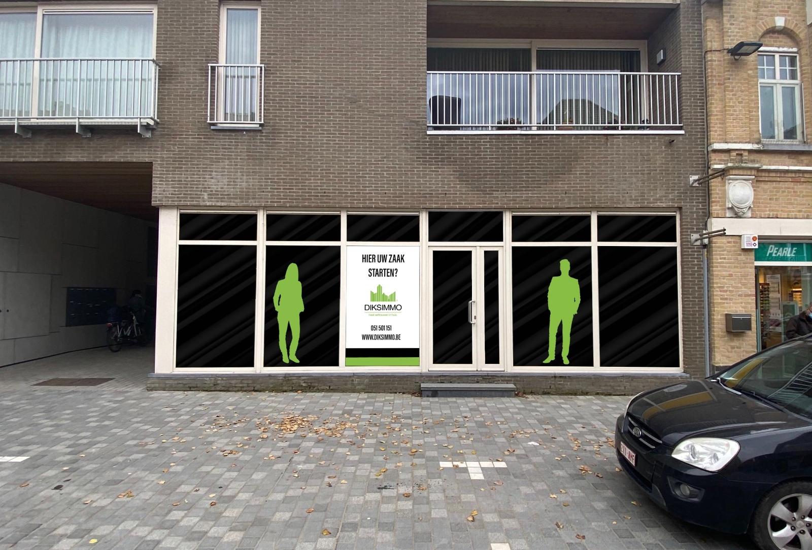 Goed gelegen commercieel handelspand te huur in hartje van Diksmuide